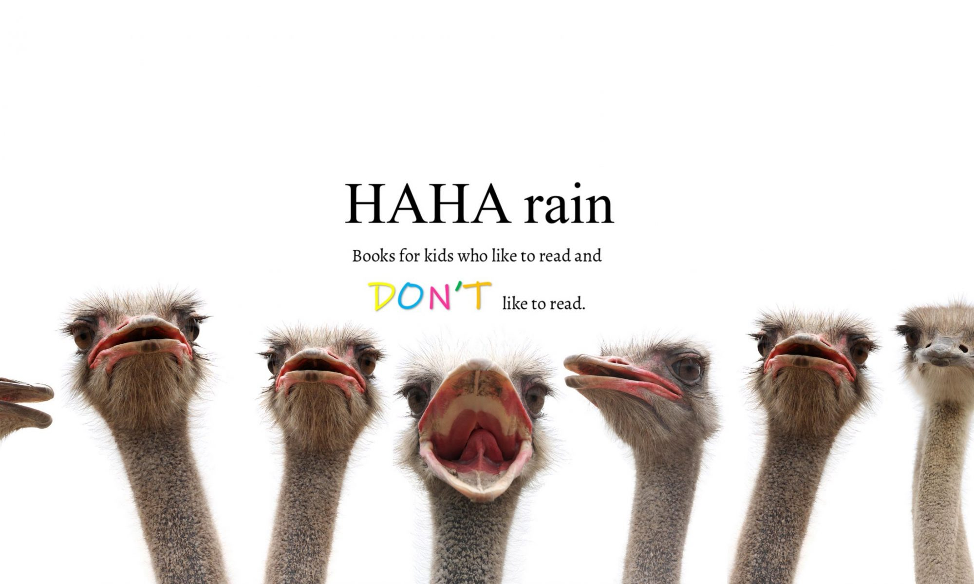 HAHA rain - Books for kids who like to read and don't like to read