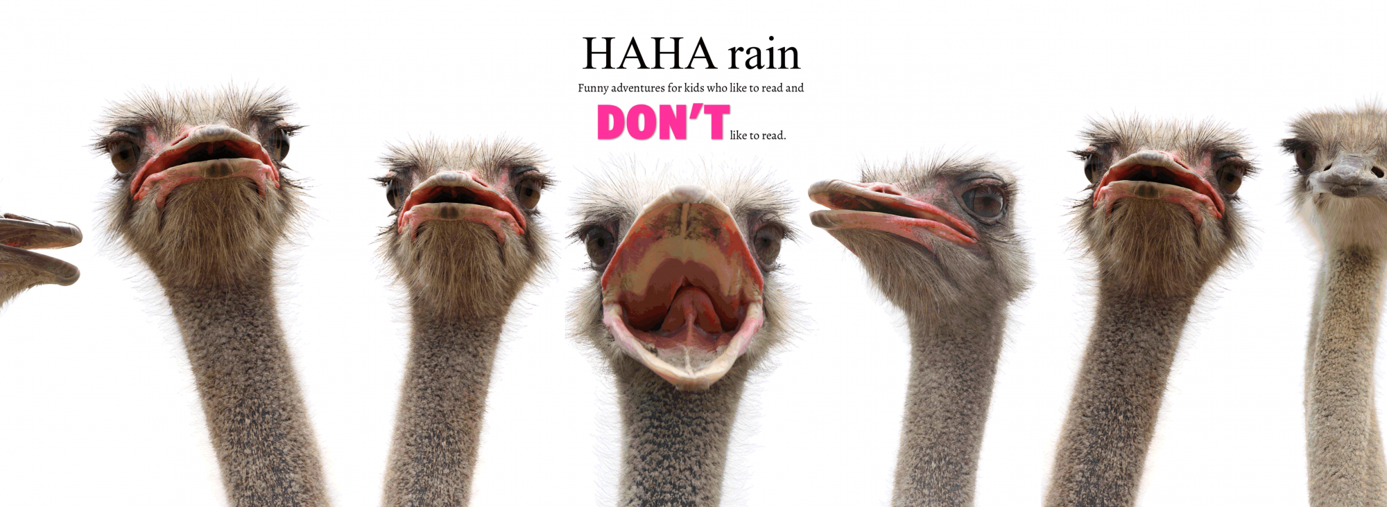 HAHA rain - Funny adventures for kids who like to read and don't like to read